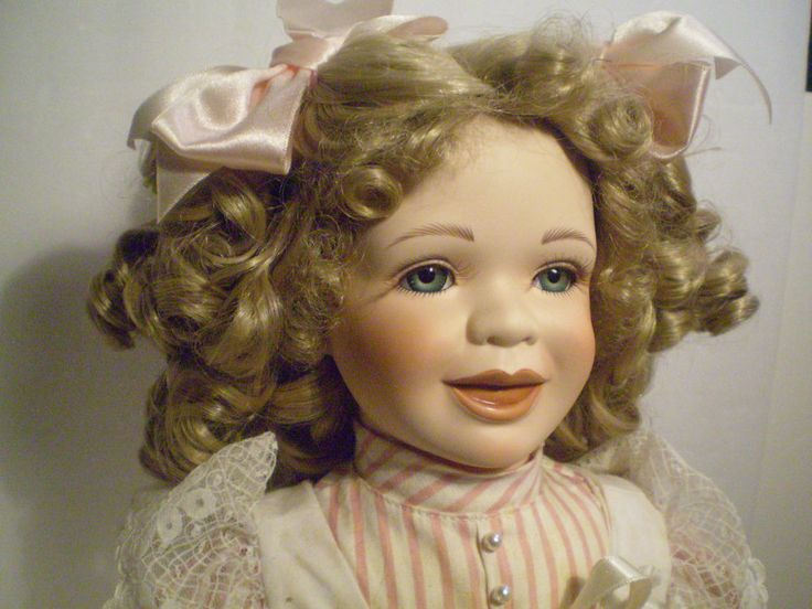 Morgan Brittany 1994 Shirley Temple-Like Redhead Young Girl Doll Candy Stripe