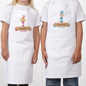 Personalized Kids Aprons - Junior Chef Character - 8680