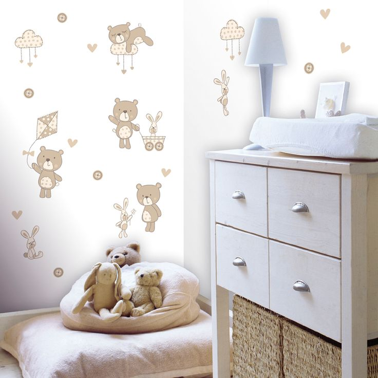 The Bear and Boo Wall Stickers add cuddly charm to your child's room with snoozing teddy bears, happy rabbits and kite flying fun. Description from allmodern.com. I searched for this on bing.com/images