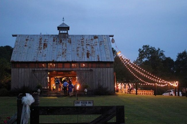 Fairly lights Rustic Outdoors Southside Wedding {Real Bride} | Confetti Daydreams. Out doors in