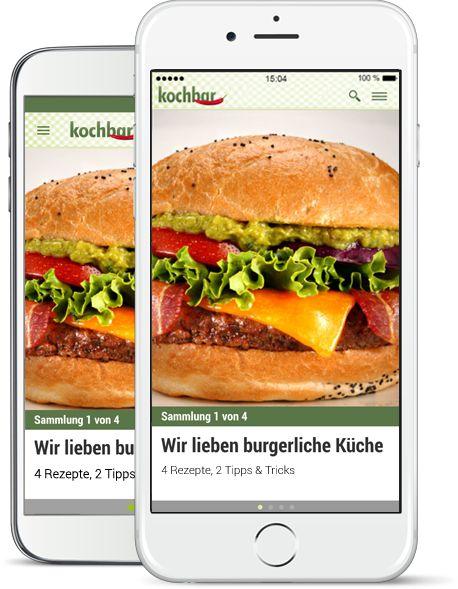 kochbar-App für iOS und Android