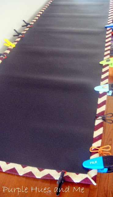No Sew Chalkboard Fabric Table Runner
