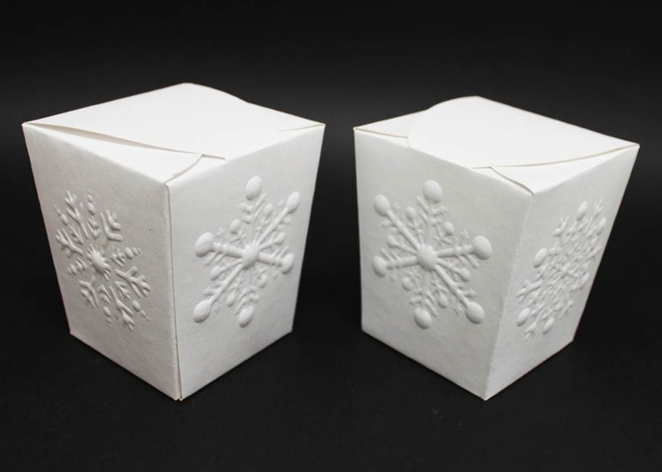 Snowflake Embossed Boxes