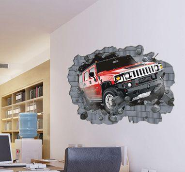 Väggdekor -Hummer med 3D-effekt, 100 x 70 cm