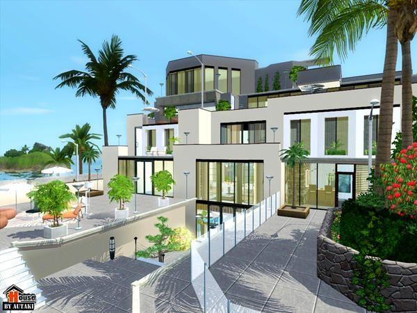 Modern Luxurious Villa Barova By Autaki For Sims 3 Sims House Plans Modern Beach House Sims House