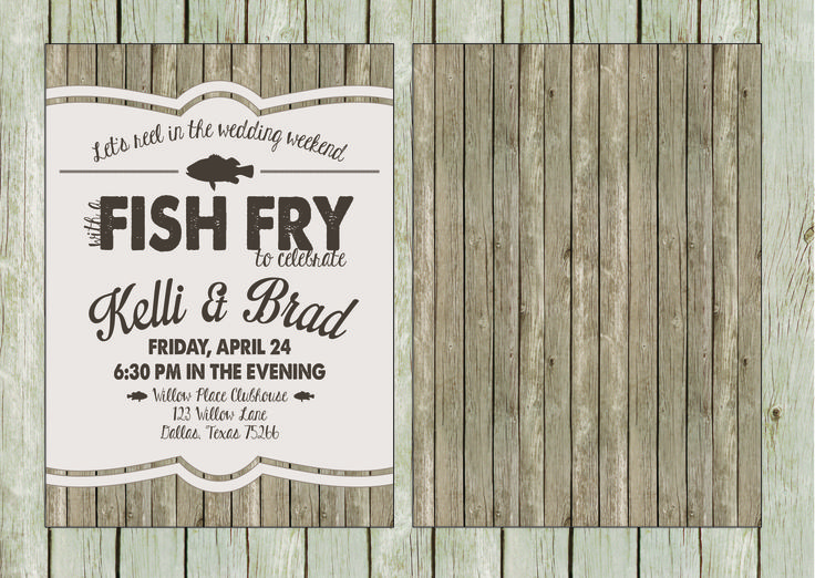 Fish Fry Rehearsal Dinner Invitation Shabbyshackcrafts