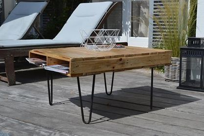 21 best bricolage et diy images on pinterest bricolage reclaimed wood coffee table and wood. Black Bedroom Furniture Sets. Home Design Ideas