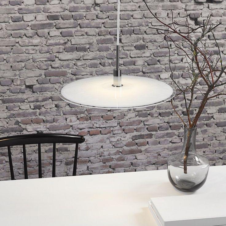 Discos glasspendel, Diameter 39 cm, Hvit