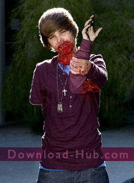 Humorous and Funny Stuff / Justin Beiber chews his arm off!