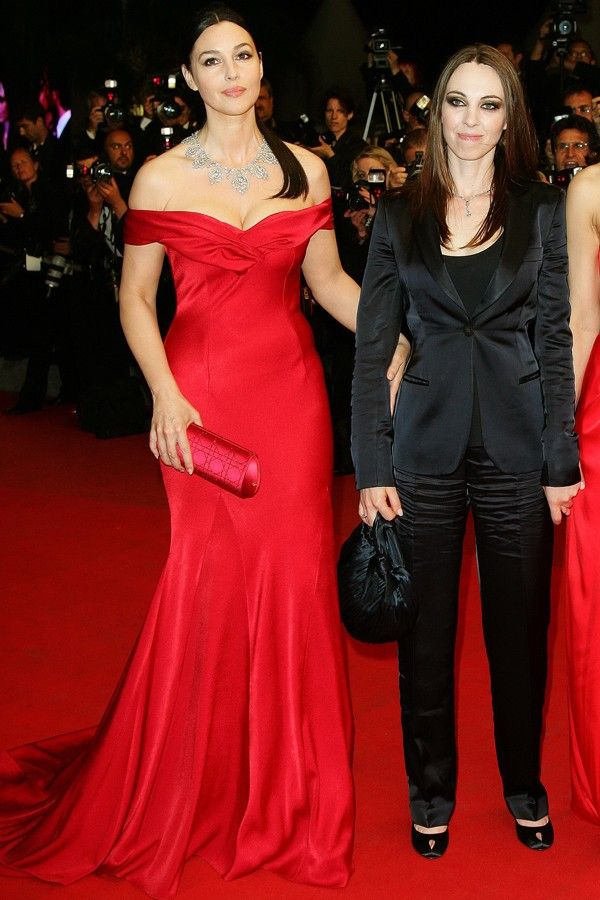 Monica Bellucci Red Off Shoulder Gown 2012 Cannes Film ...