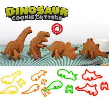 Molde para Galletas Dinosaurios en 3D