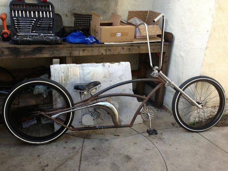 No Name Customs Stretch Cruiser Project Motorized Bicycle