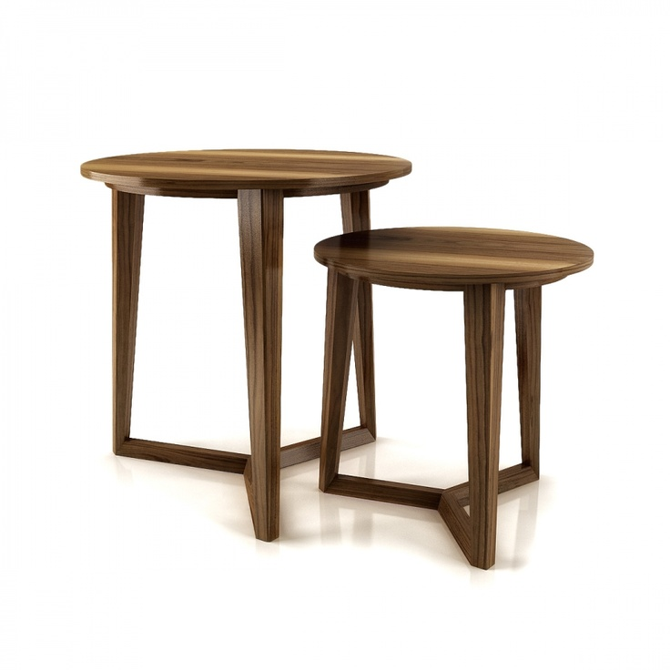 The little tables from The Moment collection... Into the bedroom as well as the living room.