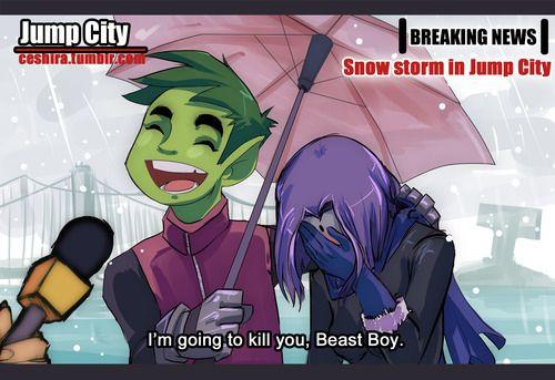 DC Comics: Teen Titans - Beast Boy x Raven - BBRae