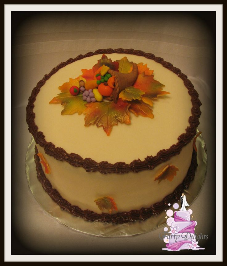 Cake Design For Thanksgiving : 163 best images about Cakes: Fall, Thanksgiving, Halloween ...