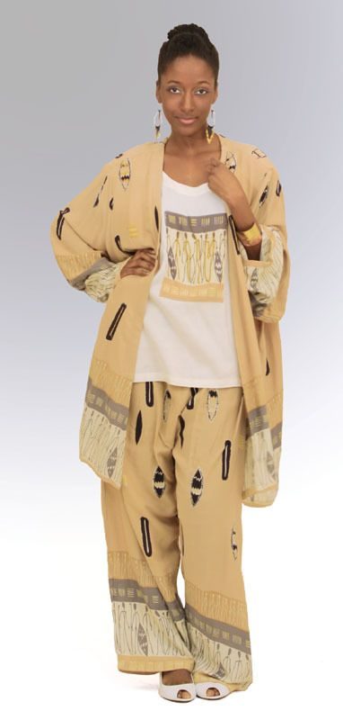 Tribal Print Pant Set - Beez Afrocentric Clothing & Accessories, Inc.