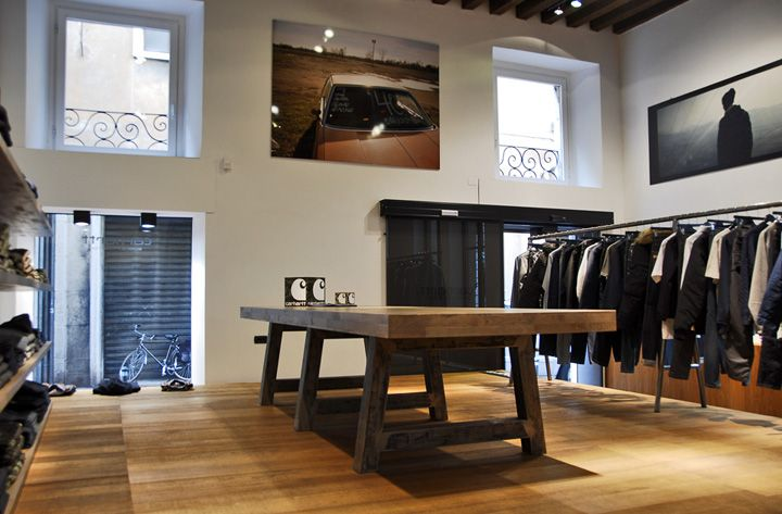 Carhartt Work In Progress store by Andrea Caputo, Verona store design