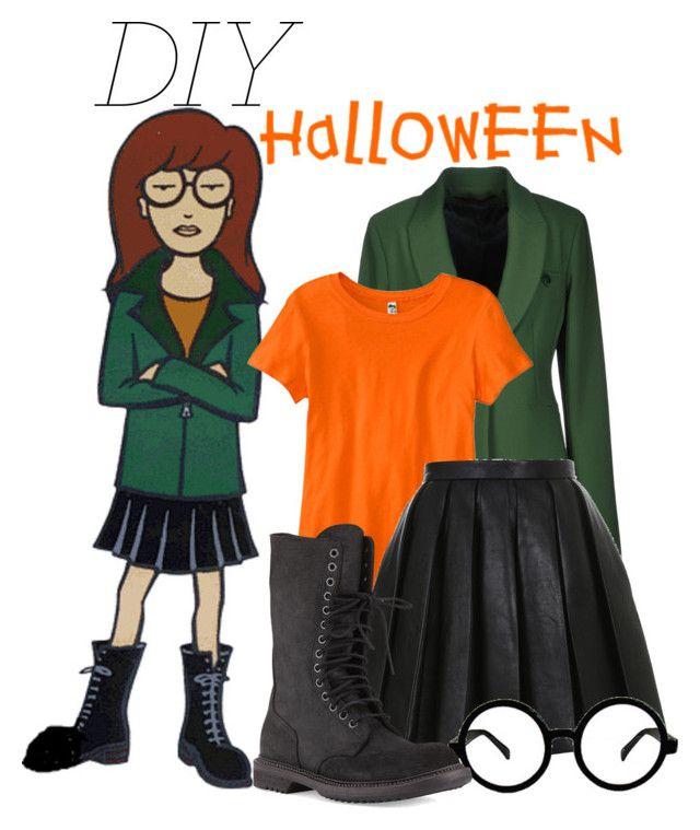 """DIY Halloween Costume: Daria Morgendorffer"" by chezamanda ❤ liked on Polyvore"