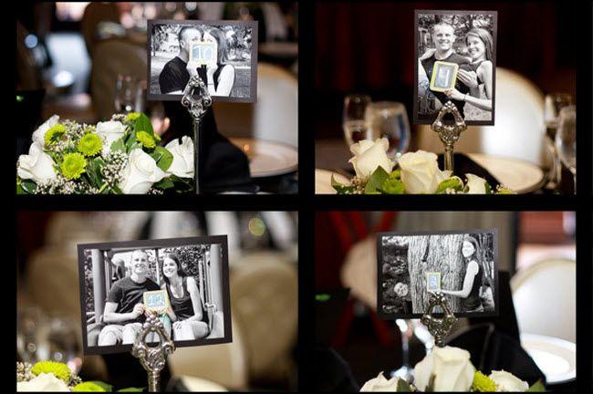 Украшение на свадьбе номера столов фото3