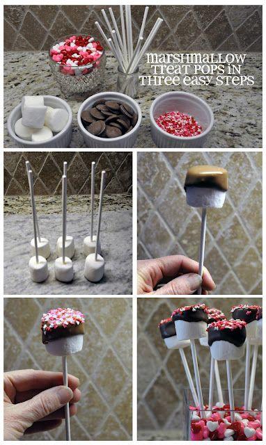 DIY- Marshmallow Lollipops