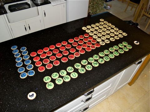 28 best periodic tables images on pinterest periodic table a periodic table of cookies urtaz Gallery