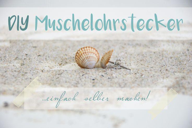 DIY - Muschelohrstecker selber machen! Mit Anleitung                                                                                                                                                     Mehr