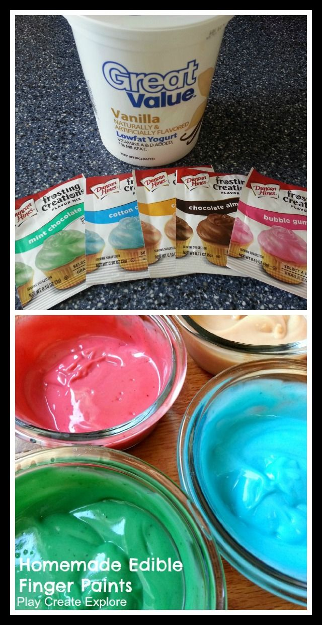 Baby safe paint for crafts - Play Create Explore Homemade Edible Finger Paints For Babies And Toddlers