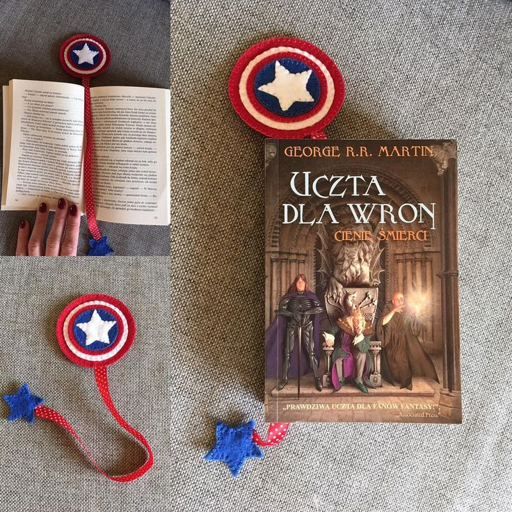 Zakładka dla wielbicielki Avengers #kochamczytać #design #instacraft #zakladka #zakladkadoksiazki #bookmark #nasprzedaz #sprzedam #robotkireczne #handmade #filc #szycie #dladzieci #avengers #kapitanameryka #captainamerica  #gwiazda #niezchinzpasji #forsale