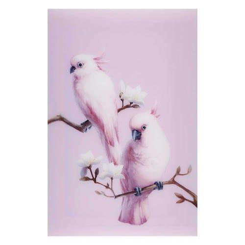Déco murale (avec images) | Papier peint oiseaux, Peinture rose, Peinture oiseau