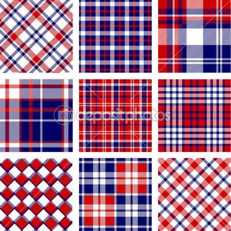 Плед узоры, цвета американского флага — стоковая иллюстрация #13203713