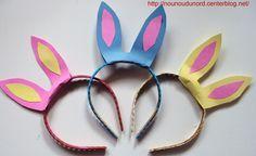 Diadèmes oreilles de lapin de Pâques , explications sur mon blog