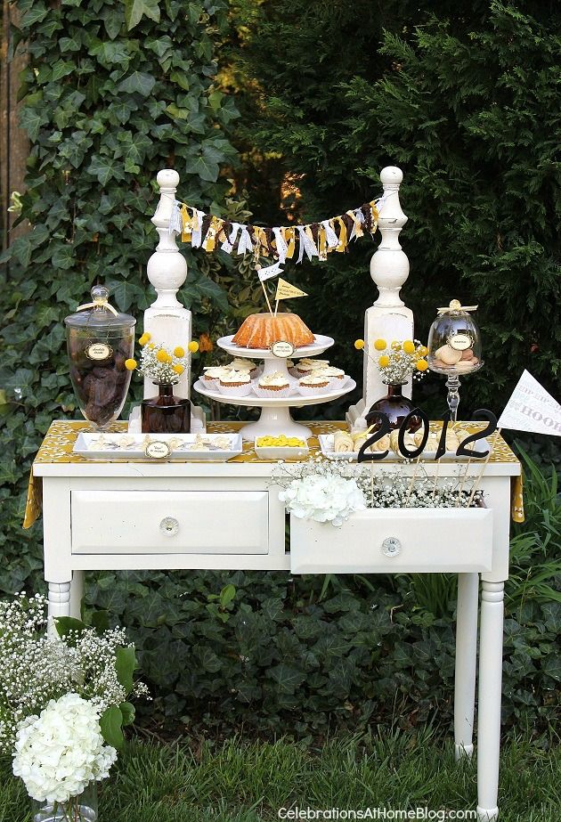 Keys to success dessert table runners shabby chic and for Table 52 dessert