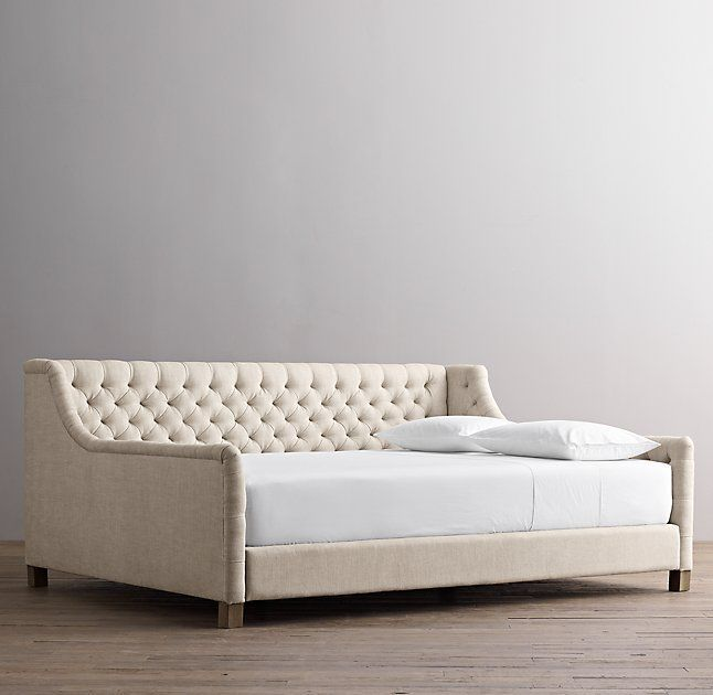 Devyn Tufted Full Size Daybed In Gray For Mama Cave