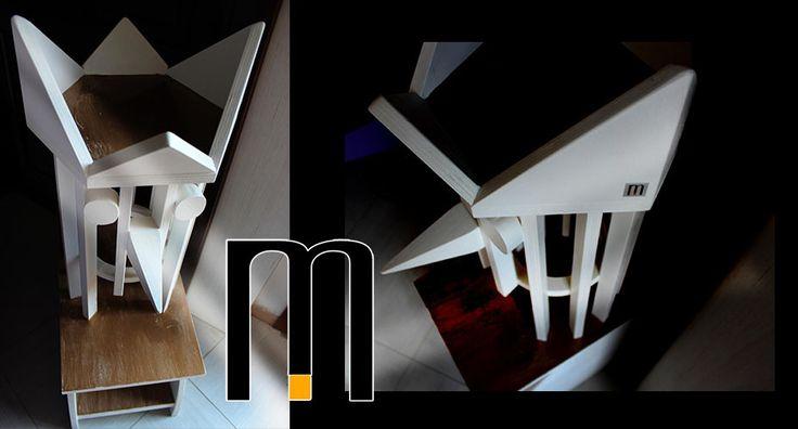 wooden sculpture from recycled materials, realized Mazzocca Laboratorio di Innovazioni, designer Riccardo Dalisi