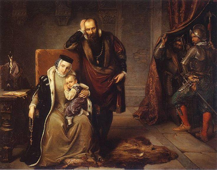 Catherine the Jagiellonian in prison in Gripsholm Castle, Józef Simmler