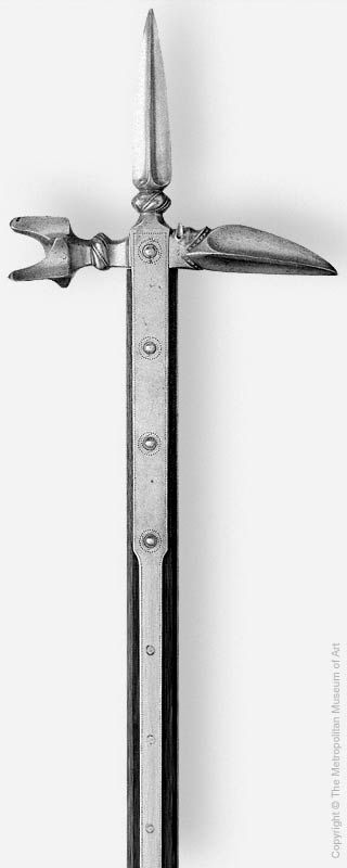 16th century bec de corbin / lucerne hammer.