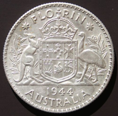 Australian Pre-decimal King George VI Silver 1944 Florin In the listing you can hear the Real King's Speech, including the stutter as he addresses the crowd in Glascow