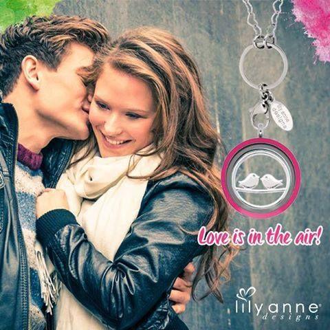 Love is in the air everywhere. #lilyannedesigns #lisaslockets #lisaslocketsandcharms #love