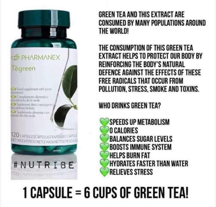 Tegreen 6 cups of Green Tea