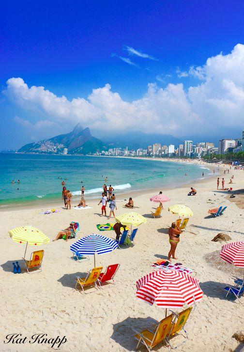 A sunny day on Ipanema Beach in Rio de Janeiro