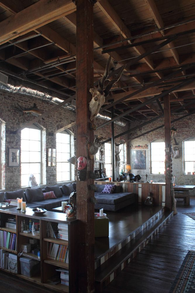 If I Could Choose Any Place To Live Would Love In An Old Warehouse Apartment Condo There Have Be Brick Walls Though