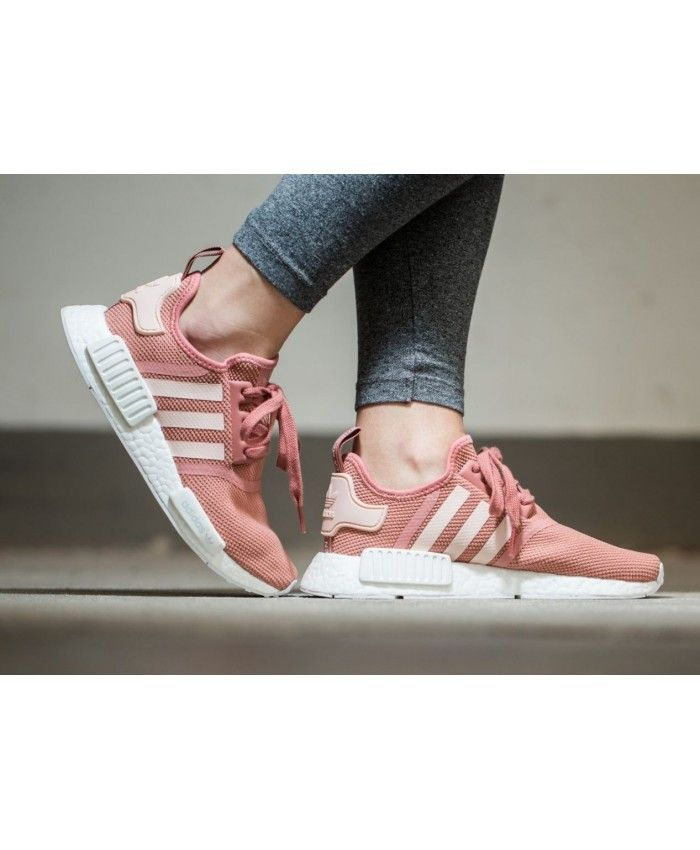 a32340f2ece0 Adidas NMD R1 White Rose Pink Shoe