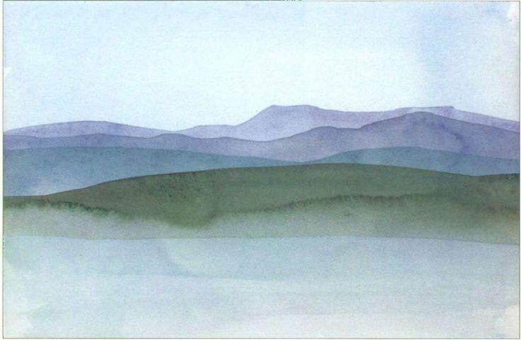 Наложение цветов   Джон Рейнс. Полный курс акварельной живописи.