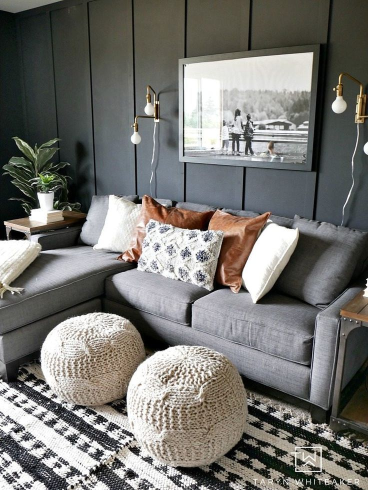 Dark Moody Room Makeover Rustic Living Room Dark Grey Couch Living Room Grey Couch Living Room