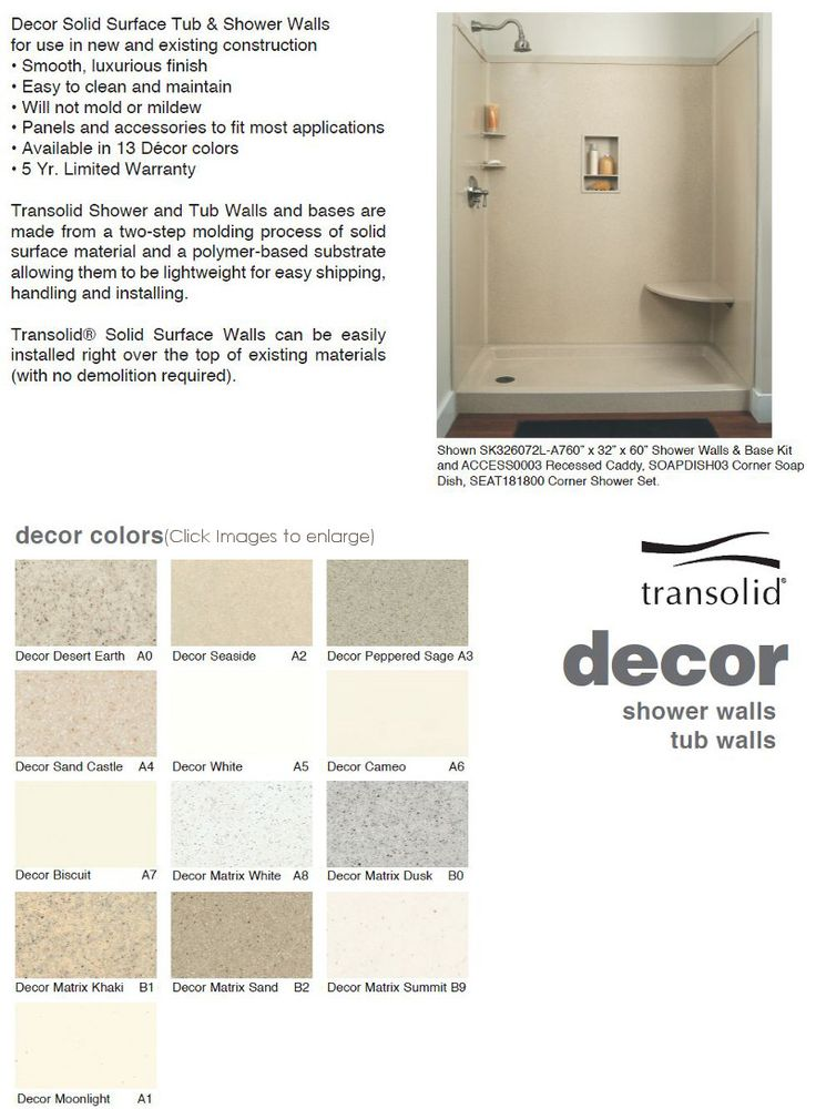 transolid solid surface shower walls shower pans custom shower pans
