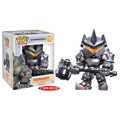 (affiliate link)  Overwatch Reinhardt 6-Inch Pop! Vinyl Figure
