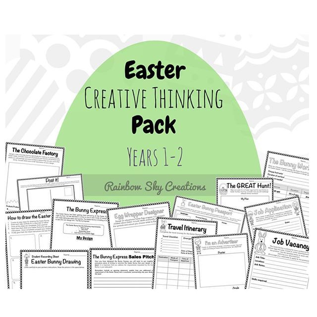Get your students thinking creatively and outside the square this week! 🐰 🐣 #rainbowskycreations #theresourcecollective #colourfulminds #easterDBT #teachergram #creativ