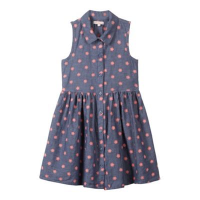 bluezoo Girl's blue floral dress- at Debenhams.ie