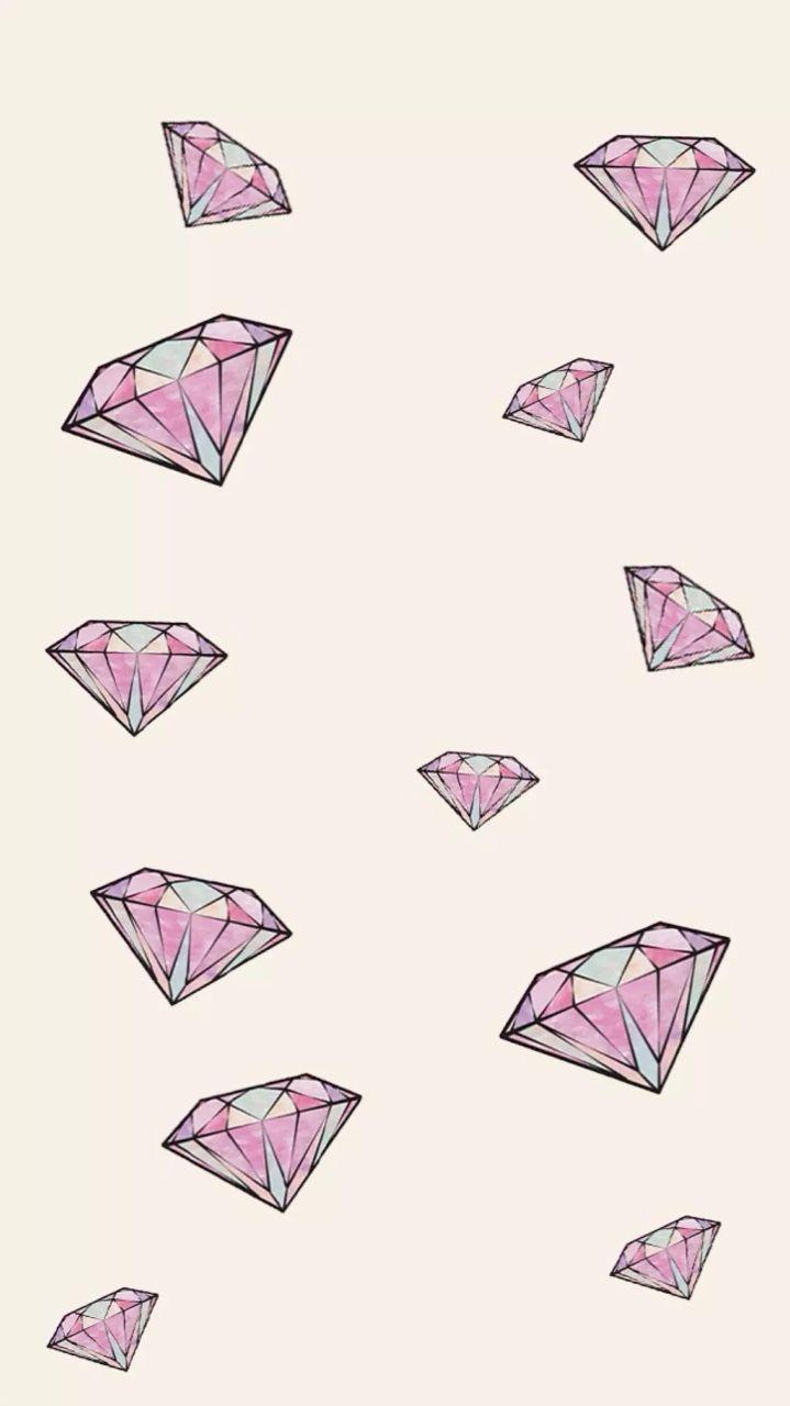 Kitten iphone wallpaper tumblr - Pink Gems Diamonds Jewels Iphone Phone Wallpaper Background Lock Screen