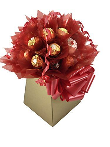 Mothers Day bouquet of love. Give her this stunning XL Ferrero Rocher Chocolate Bouquet 30 Pieces of delicious choccies - I get a commission for purchases made through the link in this pin